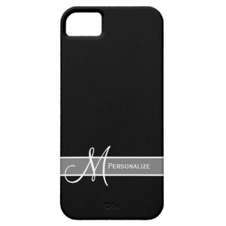 Elegant Black and White Monogram With Name Case For The iPhone 5