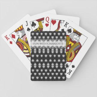 Elegant black and white pattern poker deck