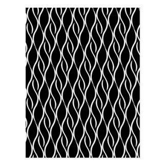 Elegant black and white pattern postcard
