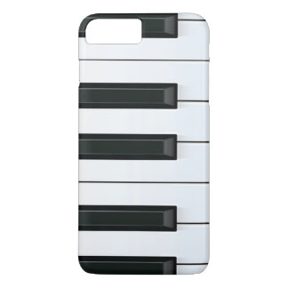 Elegant Black and White Piano Keys Pattern iPhone 8 Plus/7 Plus Case
