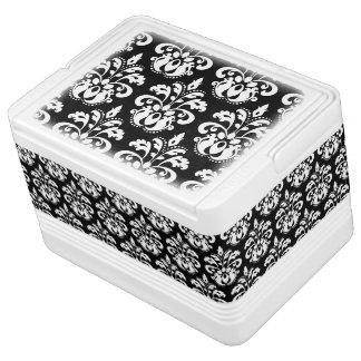 Elegant black and white vintage damask pattern