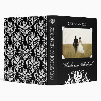 Elegant Black and White Wedding Album Binders