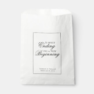 Elegant Black and White Wedding Favour Bag