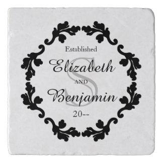 Elegant black and white wedding gift personalized