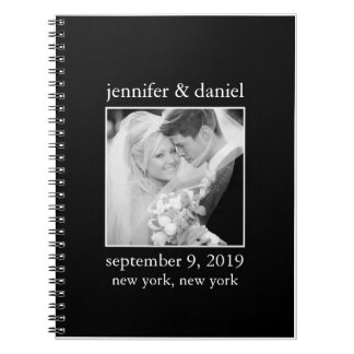 Elegant Black And White Wedding Guest Sign In Book