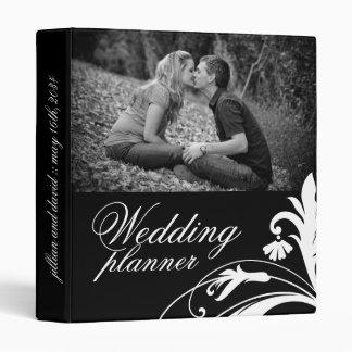 Elegant Black and White Wedding planner Binder