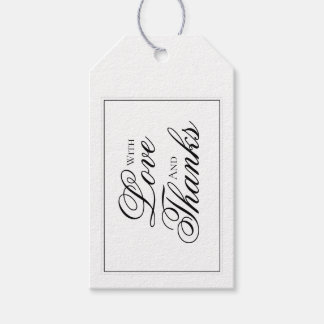 Elegant Black and White Wedding Thank You Tag