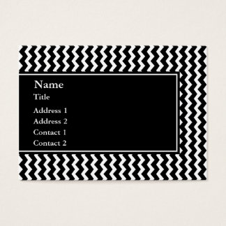 Elegant Black and White Zigzag Pattern Business Card