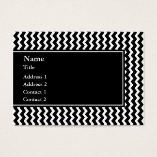 Elegant Black and White Zigzag Pattern Business Card