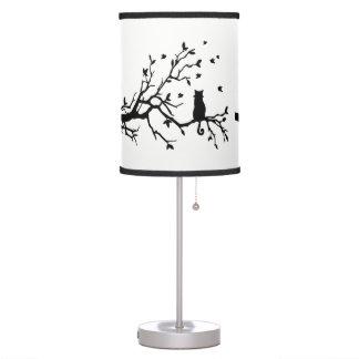 Elegant black cat table lamp