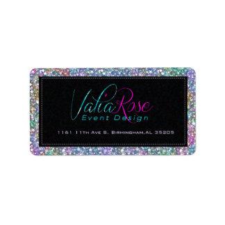 Elegant Black Colorful Purple Glitter & Sparkles 2