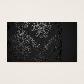 Elegant Black Damask Business Card Template