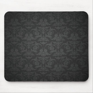 Elegant Black Damask Mouse Pad