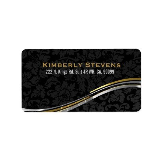 Elegant Black Damasks Gold And Silver Accents 2