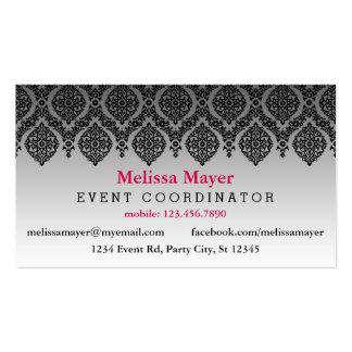 Elegant Black Decor Event Planner Business Card