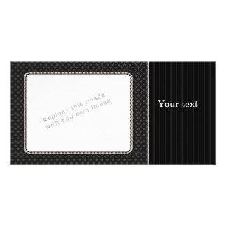 Elegant black design photo card