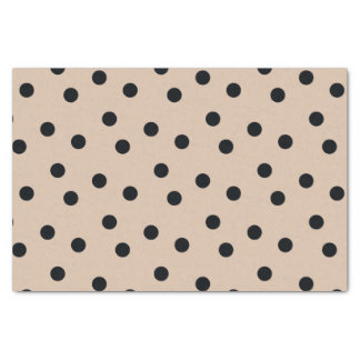 Elegant Black Dots on Beige Tissue Paper