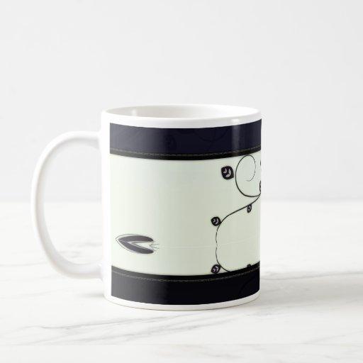 Elegant Black floral wedding gift Coffee Mugs