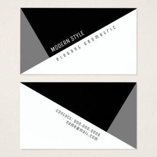 elegant black geometric modern style business card