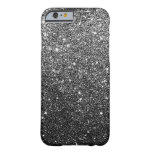 Elegant Black Glitter iPhone 6 case Barely There iPhone 6 Case