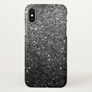 Elegant Black Glitter iPhone X Case