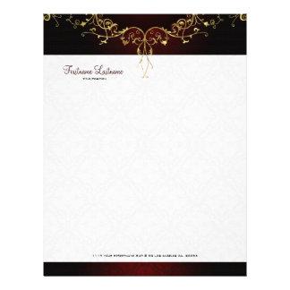 Elegant Black & God 2 Vintage Lace Frame Letterhead