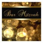Elegant Black Gold Bar Mitzvah