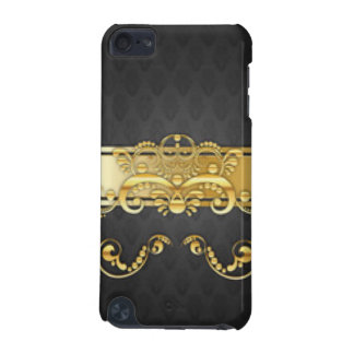 Elegant Black & Gold Damask Pattern Print Design iPod Touch (5th Generation) Covers