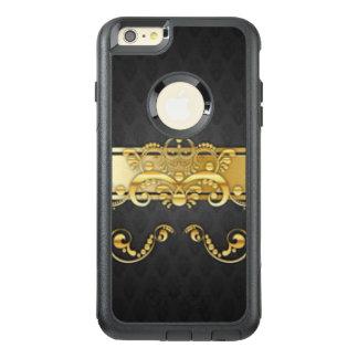 Elegant Black & Gold Damask Pattern Print Design OtterBox iPhone 6/6s Plus Case