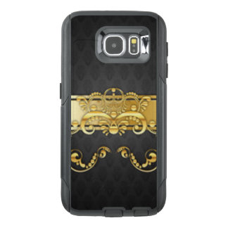 Elegant Black & Gold Damask Pattern Print Design OtterBox Samsung Galaxy S6 Case
