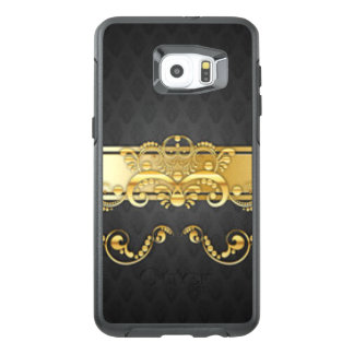 Elegant Black & Gold Damask Pattern Print Design OtterBox Samsung Galaxy S6 Edge Plus Case