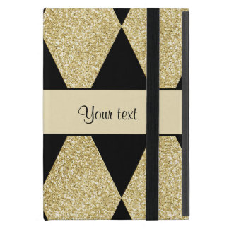 Elegant Black & Gold Diamonds Cover For iPad Mini