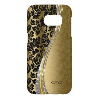 Elegant Black & Gold Floral Damasks Samsung Galaxy S7 Case