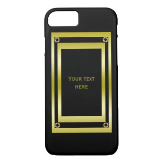 Elegant Black & Gold Framed iPhone 8/7 Case