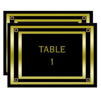 Elegant Black & Gold  Man's Table Number