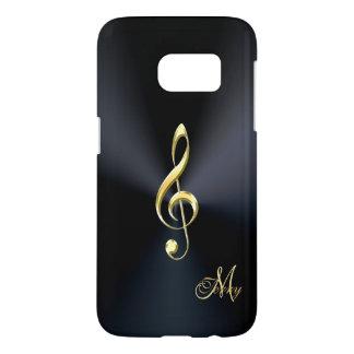 Elegant Black Gold Music Clef Galaxy S7 Case