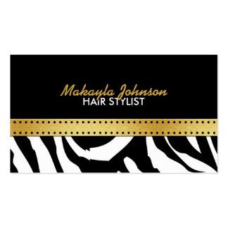 Elegant black gold Zerba Strips Modern Stylish Business Cards