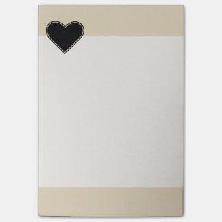 Elegant Black Heart 2 Post-it Notes