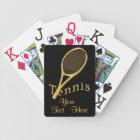 Elegant Black Jumbo Tennis Playing Cards YOUR TEXT