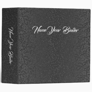 Elegant Black Lace Music Notes Pattern Binder