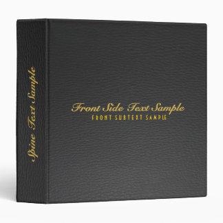 Elegant Black Leather Look Customized Avery Binder
