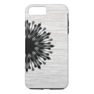 Elegant Black Lotus Flower Wood Stylish Floral iPhone 8 Plus/7 Plus Case
