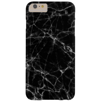 Elegant Black Marble Stone White Accents Barely There iPhone 6 Plus Case