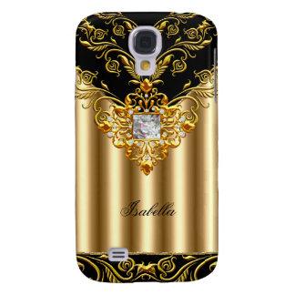 Elegant Black on Gold Monogram add name