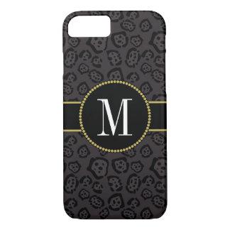 Elegant Black Panther Jaguar Stylish Gold Monogram Case-Mate iPhone Case