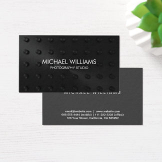 Elegant Black Professional Business Card