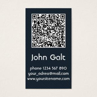 Elegant Black QR Code Business Card Template