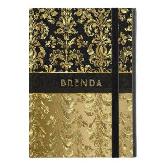"Elegant Black & Shiny Gold Floral Damasks iPad Pro 9.7"" Case"