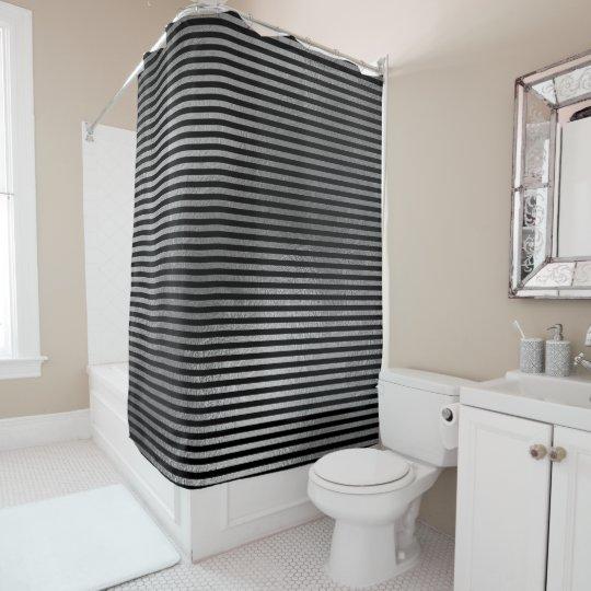 Elegant Black Silver Grey Minimal Stripes Lines
