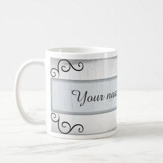 Elegant black swirls coffee mug